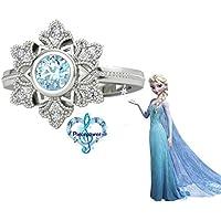 (マディソン) Madison Frozen Elsa アナと雪の女王 エルサ 925純銀指輪&ジルコニウムの指輪 (4サイズ) (13号)