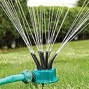 RuiStar 【製品保証書付き】 ガーデニング スプリンクラー 360度 庭園 芝生 散水 水やり 農作物 植物 手入れ 簡単設置