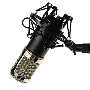 Codio コンデンサー マイク スタジオ 単一指向性 集音 高音質 録音 宅録 ゲーム実況 生放送 3.5mm プラグインパワー対応 ブラック MK01BL
