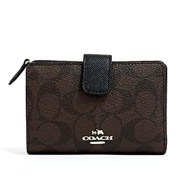 [コーチ] COACH 財布(二つ折り財布) F53562 ブラウン×ブラック ラグジュアリー シグネチャー PVC ミディアム コーナー ジップ ウォレット レディース [アウトレット品] [ブランド] [並行輸入品]