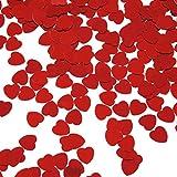 KOZEEY輝き ハート形 紙吹雪 結婚式 パーティーの装飾 散布?? 振りかける 赤 10ミリメートル
