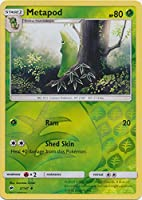 Metapod - 2/147 - Uncommon - Reverse Holo - Sun & Moon: Burning Shadows