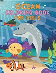 Ocean Coloring Book For Girls: A Fun & Relaxing Ocean Coloring Book for Girls, Cute Children's Colorin