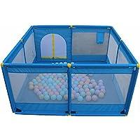 HUO 遊び場赤ちゃんフェンスの子供の幼児クロールグリッドボールプール屋内の大きなスペース 省スペース (色 : 青)
