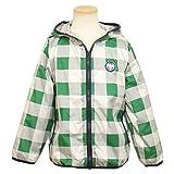 ウインドブレーカー 男の子 キッズ ジャンパー 裏メッシュ ジャケット フード付き グリーン 100cm