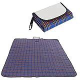 折り畳み レジャーシート ピクニック アウトドアに 防水仕様 4人サイズ 180×150cm ブルー