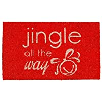 Home & More 121451729 Jingle All The Way Doormat 17 x 29 x 0.60 Multicolor [並行輸入品]