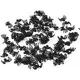 Asixx 蜘蛛 スパイダーおもちゃ プラスチック製 玩具 いたずら 50個セット パーティー/ハロウィーン/お化け屋敷/学園祭 サプライズ  どっきり 絶叫 黒いスパイダー