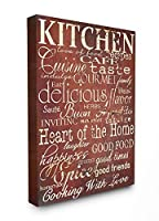 The Stupell Home Decor Collection Words in The Kitchen Off Red 24 x 30 [並行輸入品]