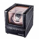 TRIPLE TREE ワインディングマシーン 1本巻き 腕時計自動巻き器 ウォッチワインダー マブチモーター 静音設計 ブラック