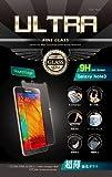 【1年保証、0.33mm、2.5TRラウンドエッジ仕様】ULTRA FINE GLASS 強化ガラス液晶保護フィルム(高鮮明・スクラッチ防止・気泡軽減・指紋防止機能) (0.33mm 2.5TRラウンドエッジ, Galaxy Note3)