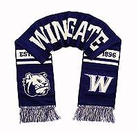 Wingate Bulldogsスカーフ–Wingate大学クラシック編み