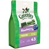 Greenies Blueberry Dental Chew Teenie Dog Treats 340 g, 12 oz