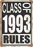 なまけ者雑貨屋 Class of 1993 Rules メタルプレート アンティーク な ブリキ の 看板、レトロなヴィンテージ 金属ポスター 、40x30cm