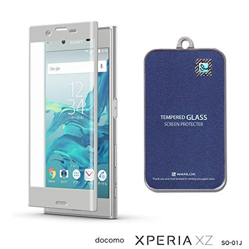 WANLOK 2017 改善版 Sony Xperia XZ シルバー フレーム 3Dカット版 Xperia XZ softbank au Xperia XZ SOV34 docomo SO-01J ソニー エクスペリア XZ 5.2インチ ガラスフィルム 実機確認済 NSG 日本板硝子社 国産ガラス採用 ガラスフィルム 2.5D 硬度9H 0.3mm ラウンドエッジ加工 simフリー スマホ 国内正規流通品 XperiaXZ Silver