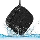INSMART Bluetoothスピーカー ワイヤレスステレオスピーカー IPX7 防水スピーカー 吸盤式 Bluetooth 4.0 8W 低音強化 12時間連続再生 内蔵マイク スマートホン/タブレット/など対応 18ヶ月保証 (ブラック)