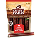 Natural Farm Bully Sticks - 6-Inch Long, 25-Count (19oz / 1.2 lb Per Pack) - 100% Beef Chews, Grass-Fed, Non-GMO, Grain-Free, Fully Digestible Treats to Keep Your Puppies, Small and Medium Dogs Busy