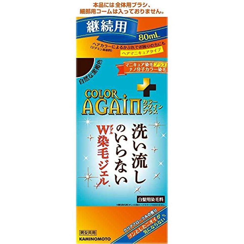 スクレーパー敬意を表してオーバーランカラーアゲインプラス 自然な黒褐色 継続用 80mL
