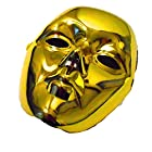 本格派! ベネチアンマスク ベネツィアン 仮面 仮装 ハロウィン 金 ゴールド メタリック パーティー 変身グッズ 不可思議 奇妙