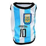 (ワボーズ)Waboats ペット用品 ペット服 ワールドカップ 犬用サッカー運動シャツ 犬の服 8チーム11サイズ選べる アルゼンチン 3XL