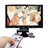 Camecho オンダッシュモニター9インチ 液晶モニター HDMI出力可能 VGAポート付き 1080P高画質 PC/DVD/AVなどに接続可能 車載モニター リモコン切替可能