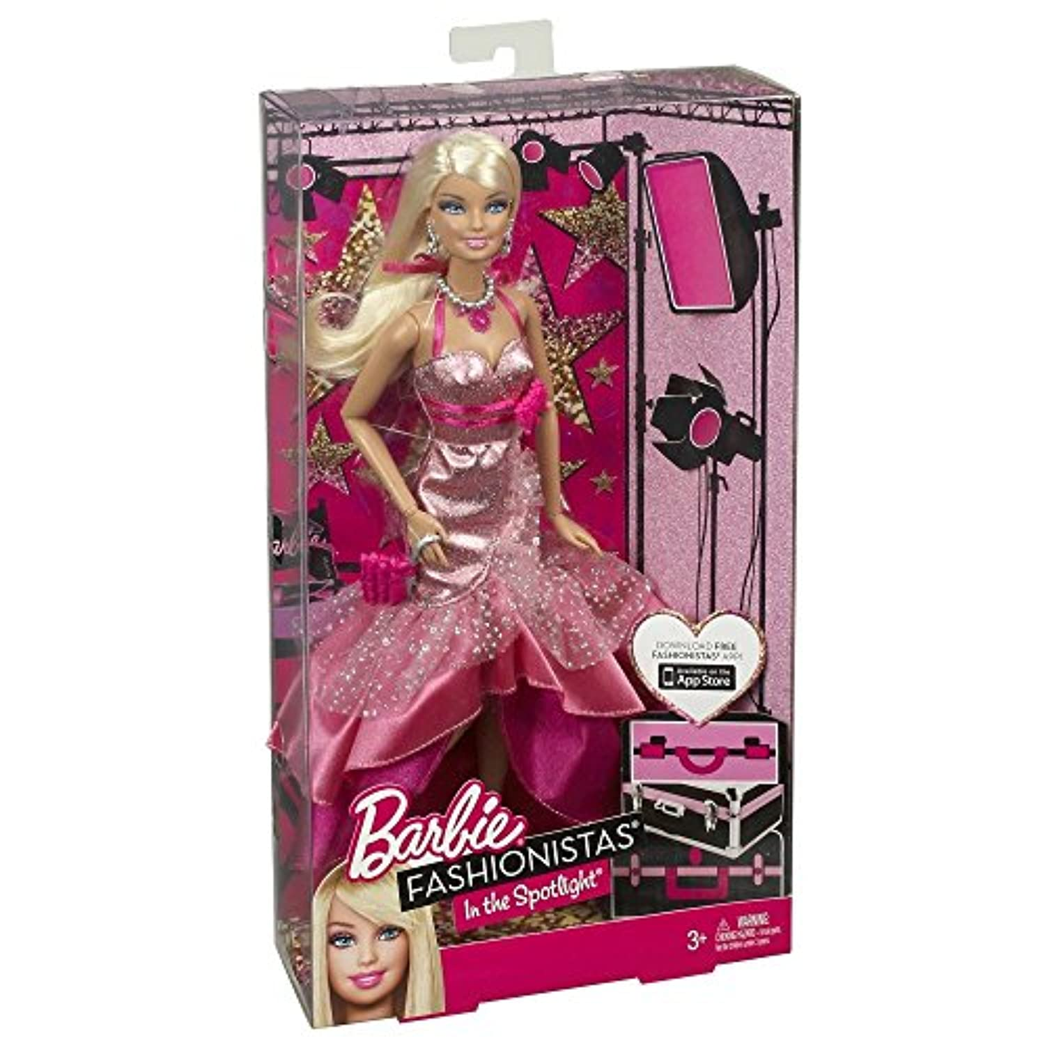 Barbie Fashionistas in The Spotlight Gown Doll, Pink by Barbie