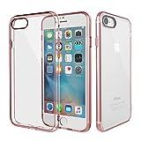 iPhone7 ケース ハイブリッド 耐衝撃 iPhone 7 カバー 透明 クリア 薄型 ストラップホール付 指紋防止 正規品 アイフォン7 スマホケース 保証付き (ピンク)