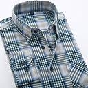 【Wild Cats】メンズ ネルシャツ お洒落 重ね着 韓国風 綿 オールシーズン カジュアル(エコバッグ付き)2XL-DTF04
