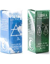 Mystic Moments | Air Element & Libra Zodiac Sign Astrology Essential Oil Blend Twin Pack (2x10ml)