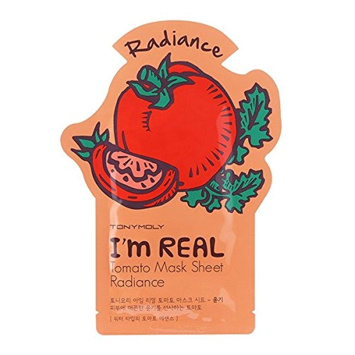 スリム申し立てる取り組むトニーモリー I'm Real Mask Sheet - Tomato - Radiance 10x21ml/0.71oz