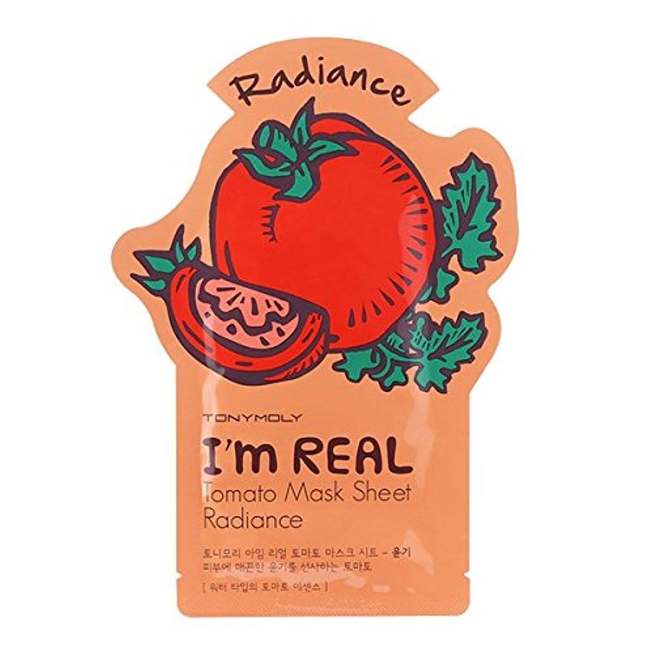 大砲有毒ミットトニーモリー I'm Real Mask Sheet - Tomato - Radiance 10x21ml/0.71oz