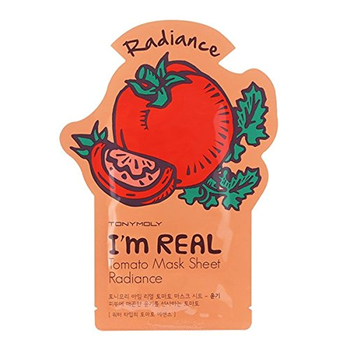松の木矢歴史家トニーモリー I'm Real Mask Sheet - Tomato - Radiance 10x21ml/0.71oz