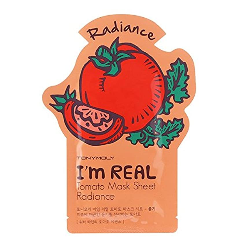 幸運なセーブ困惑トニーモリー I'm Real Mask Sheet - Tomato - Radiance 10x21ml/0.71oz