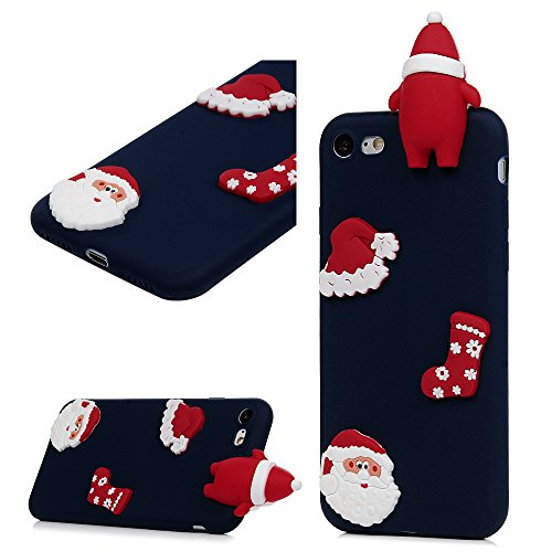 iPhone8 ケース / iPhone7 ケース ソフト TPU クリスマス シリーズ 絵柄 Ap...