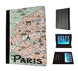 408–パリHistoricサイトマップデザインファッショントレンドTpuレザーフリップケースfor Apple iPad Mini 12& iPad Mini Retina 123フルケースフリップTpuレザー財布ポーチDefenderスタンドカバー