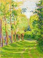 ¥5K-200k 手書き-キャンバスの油絵 - 美術大学の先生直筆 - 20 名画 - 風景 at saint charles Pissarro カミーユ・ピサロ LEPS1 - 絵画 洋画 手描複製画 -07