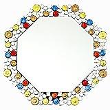 クロシオ テーブル ミラー 8角 Octa カラー 幅51.5cm 卓上ミラー 壁掛けミラー 豪華 ラグジュアリー 081009