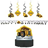Construction Zone Party Decorations Supply Pack - Dizzy Danglers Banner and Centerpiece [並行輸入品]
