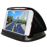 Best 車で携帯電話ホルダー - 車の電話ホルダー、iPhone7のための車のクレイドル、7プラス、X、8,8プラス、ダッシュボードGPSホルダー三星ギャラクシーS9 S8ノート8、3-6.8インチユニバーサルスマートフォンの車にマウント - ブラック Review