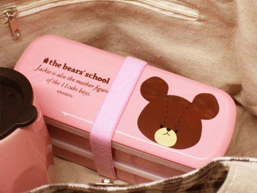 the bears' school(くまのがっこう) 塗ニ段弁当箱 (フェイスジャッキー) 11283