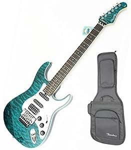 Bacchus ( バッカス ) GC-007/T TRQ(ターコイズ) GLOBAL Series Guitar アルダーボディー、フレイムメイプルトップ ロゴ入りギグケース付