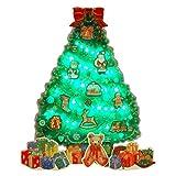 サンリオ クリスマスカード 洋風 ライト&メロディ ポップアップ 緑ツリーにクリスマス小物 S7316