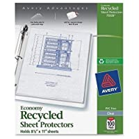 """75539 Avery Economy-weight Sheet Protector - Letter 8.50"""" x 11"""" - Polypropylene - 100 / Box - Clear [並行輸入品]"""