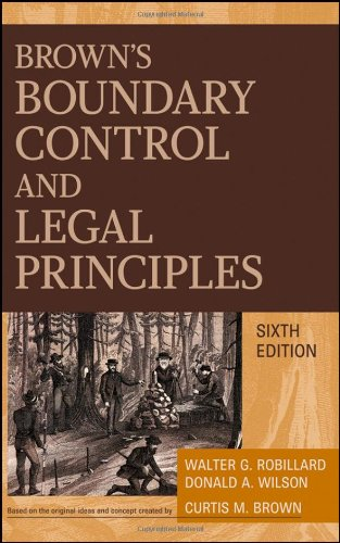 Download Brown's Boundary Control and Legal Principles 0470183543
