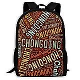 リュック デイパック 重慶市 Chongqing リュックサック バックパック 通学パック 高校生 中学生 大容量 男女兼用 防水 One Size Black
