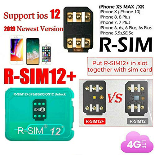 ACHICOO SIMロック解除アダプタ ロック解除カード RSIM 12+ Plus 2019 R-SIMナノ iPhone X/8/7/6/6s 4G iOS 12.3にフィット ユニバーサル