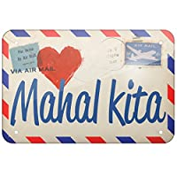 メタルサインI Love You Filipino Love Letter from the Philippines – Neonblond Large 12x18