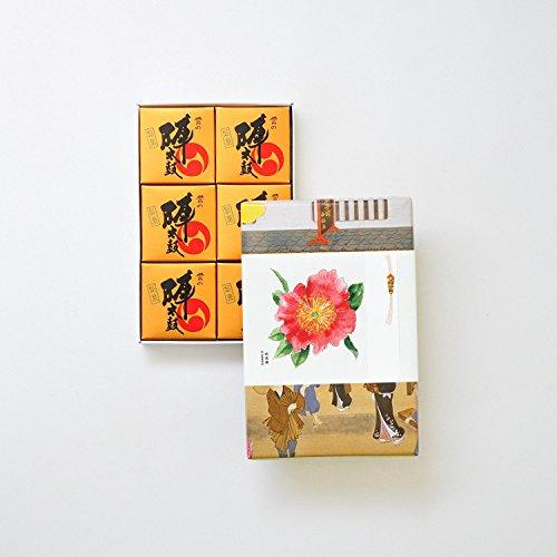 お菓子の香梅 誉の陣太鼓 6個入 肥後六花のし紙 【肥後椿】 スイーツ 480g