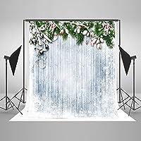 Firtree Chritmas写真背景Snowfall Woondenホワイトボード写真バックドロップfor Chrismasフォトスタジオ小道具