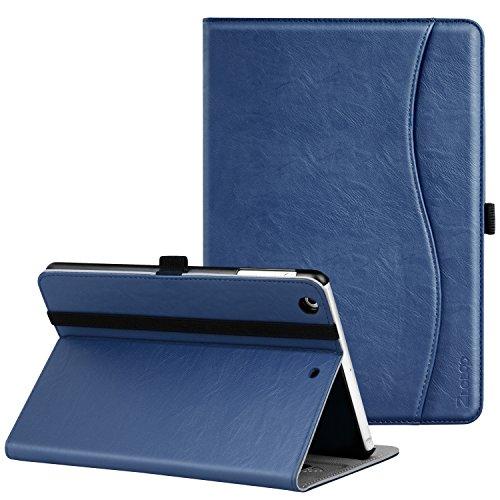 iPad Mini ケース Ztotop iPad Mini2 ケース iPad Mini3 ケース 高級PUレザー オートスリープ機能付き ポケット付き 手帳型 全面保護 Apple iPad mini1/mini2/mini3(7.9インチ)通用 スマートケース(ネイビー)